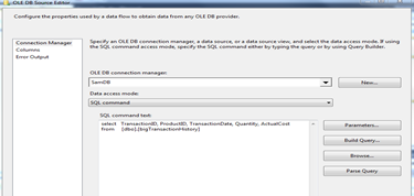 SQL Command Data Access Mode