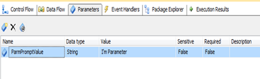 ssis package parameters
